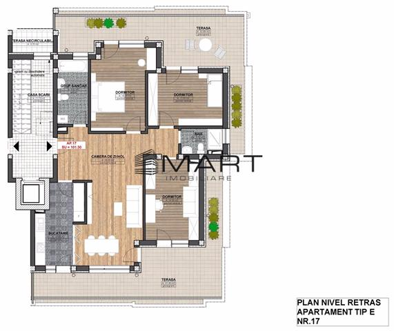 Apartamente 3 camere 72mp zona Alba Iulia