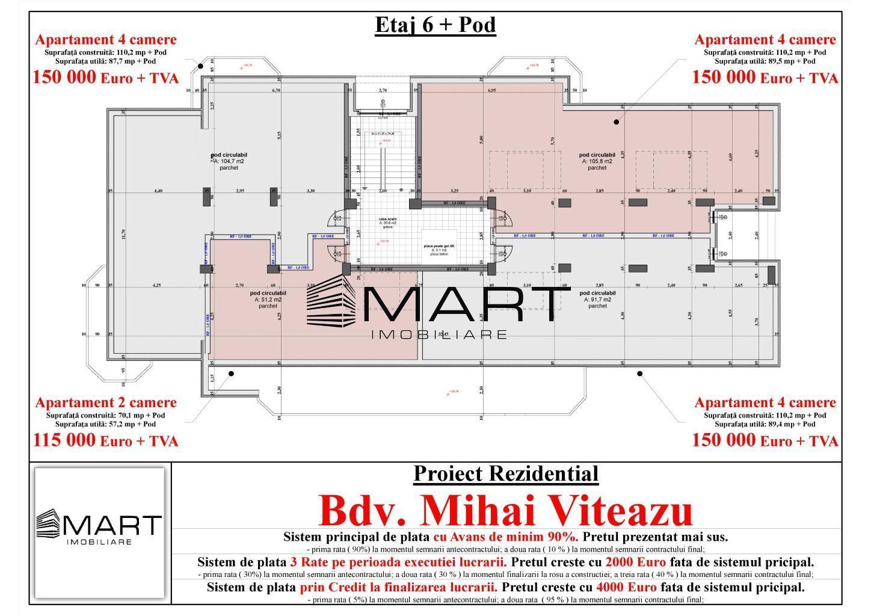 Apartament 180 mp decomandat zona Mihai Viteazul