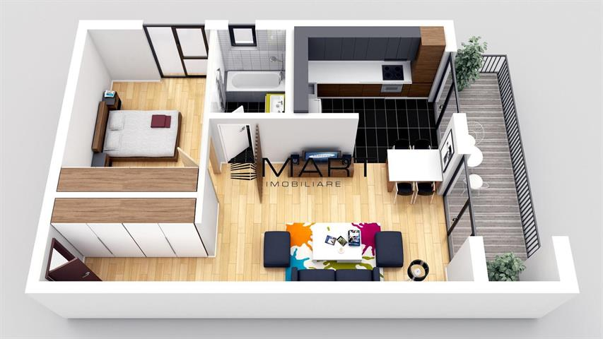 Apartament 2 camere etaj 2  la cheie zona Brana