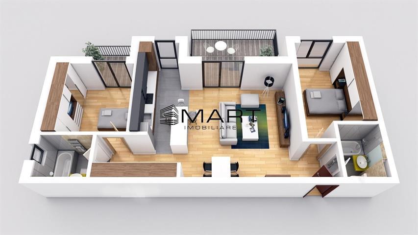 Apartament 3 camere etaj 2 la cheie zona Brana
