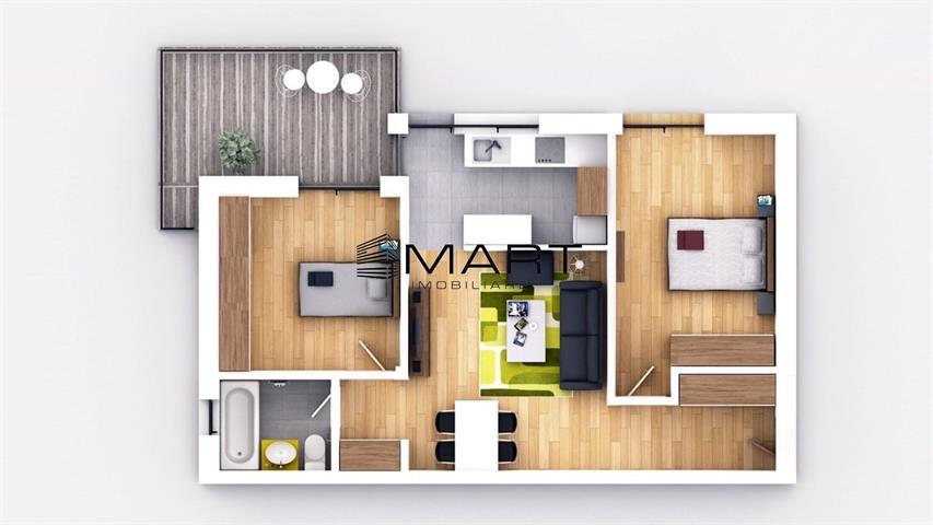 Apartament 3 camere etaj 1 la cheie zona Brana