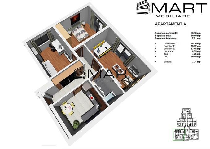 Apartament 3 camere decomandat zona Tineretului