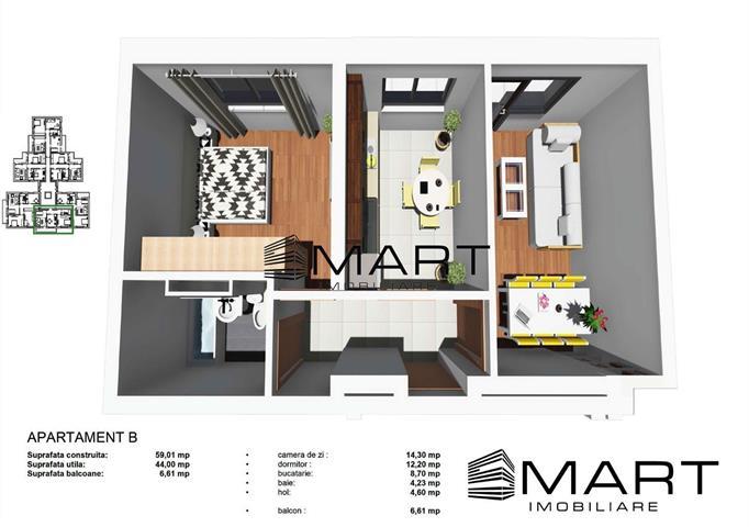Apartament 2 camere decomandat zona Tineretului