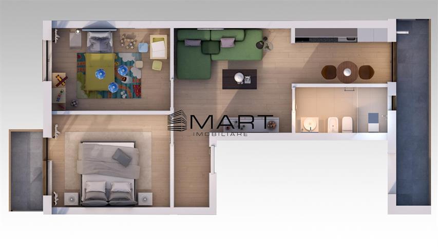Apartament 3 camere 56 mp utili zona calea Surii Mici