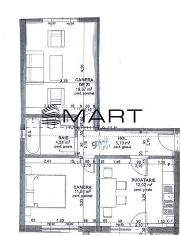 Apartament la vila 2 camere 50 mp utili zona calea Cisnadiei