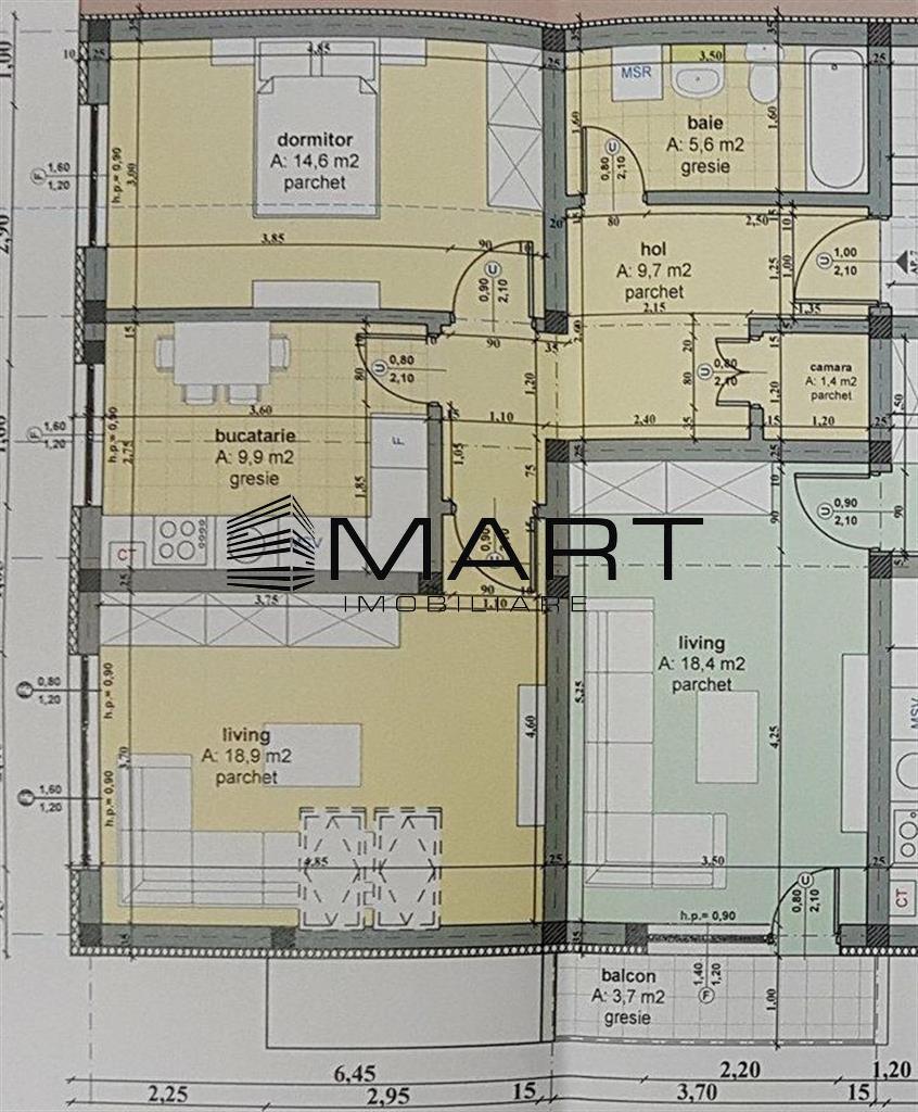 Apartament 2 camere 60 mp utili zona Calea Cisnadiei