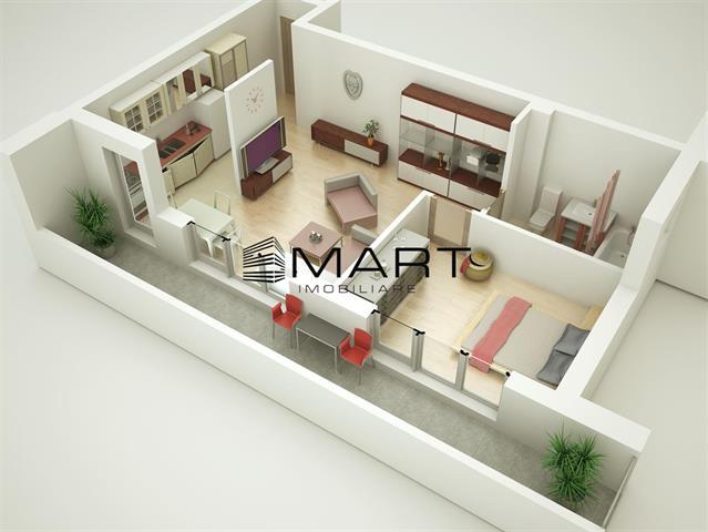 Apartament 2 camere 48 mp utili zona Doamna Stanca