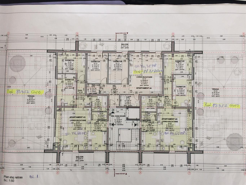 Apartament 3 camere 70 mp utili zona Selimbar